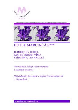 domácí noky - Hotel Marcinčák