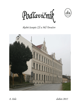 školní časopis ZŠ a MŠ Tovačov 8. číslo duben 2015