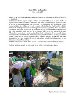 Za zvířátky na Kozodoj třída Medvídků