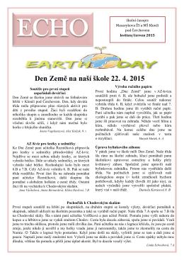 Den Země na naší škole 22. 4. 2015