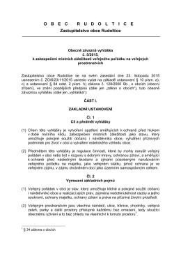 OZV č. 5/2015, k zabezpečení místních záležitostí