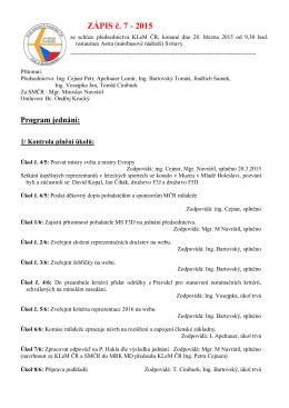 ZÁPIS č. 7 - 2015 - Svaz modelářů ČR