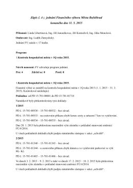 Zápis z FV č. 4/2015 ze dne 11.5.2015