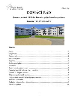Domácí řád DS - Domov seniorů Uhlířské Janovice