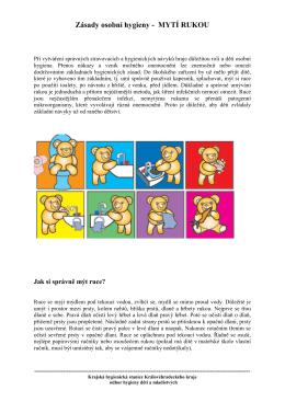 Regionální úkol HDM 2015: Zásady osobní hygieny