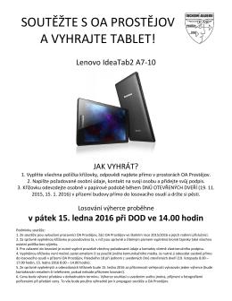soutěž o tablet