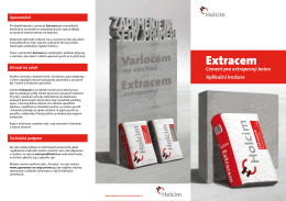 Extracem - aplikační brožura