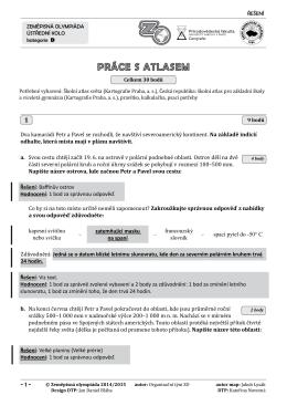 kategorie D atlas a test řešení