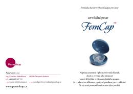 Stručný příbalový leták pro gynekology