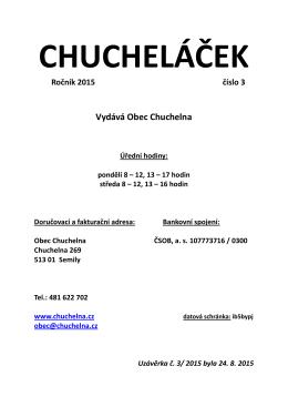 číslo 3 - Obec Chuchelna.