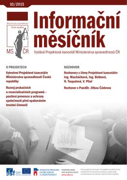 Informační měsíčník Ministerstva spravedlnosti 10/2015PDF