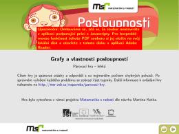 Grafy a vlastnosti posloupností - Web projektu Matematika s radostí