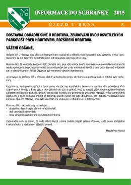 Informace do schránky č. 5/2015