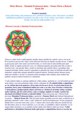 Mandala Probuzená láska - Cesta k duze