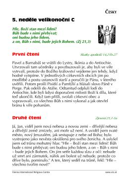 Hle, Boží stan mezi lidmi! - Vienna International Religious Centre