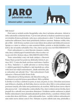 nové číslo časopisu JARO - Římskokatolická farnost Opava–Jaktař