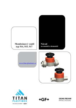 Membránový ventil - TITAN