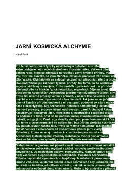 JARNÍ KOSMICKÁ ALCHYMIE