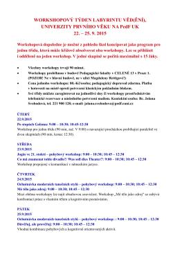 Program workshopového týdne_září 2015