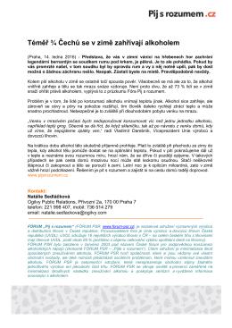 Tisková zpráva ve formátu PDF