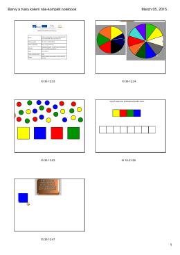 Barvy a tvary kolem nás - Mateřská škola Žďár nad Sázavou