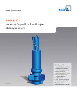 Amacan K – ponorné čerpadlo s kanálovým oběžným kolem