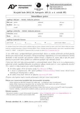 Krajské kolo 2015/16, kategorie AB (3. a 4. rocn´ık SŠ) Identifikace