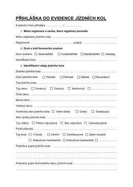 registracni formular jizdniho kola pro mp cr 2015