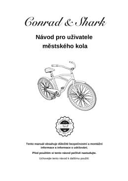 Návod pro uživatele městského kola