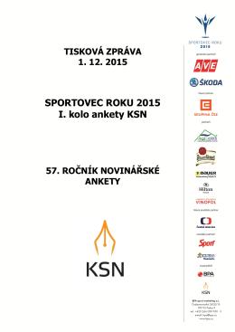SPORTOVEC ROKU 2015 I. kolo ankety KSN