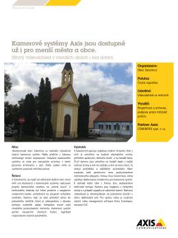 Kamerové systémy Axis jsou dostupné už i pro menší města a obce.