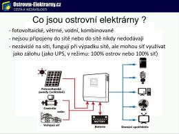 Co jsou ostrovní elektrárny ?