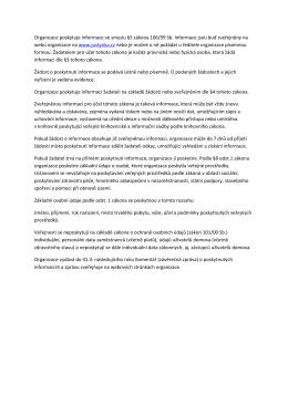 Zákon o poskytování informací 106/1999 Sb.