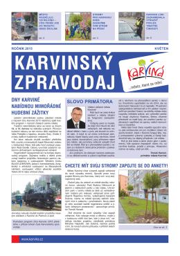 Karvinský zpravodaj 5/2015