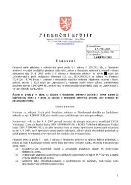 Usnesení o zastavení řízení ze dne 5. května 2015 vydané pod