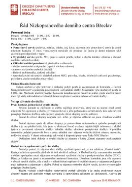 Řád Nízkoprahového denního centra Břeclav