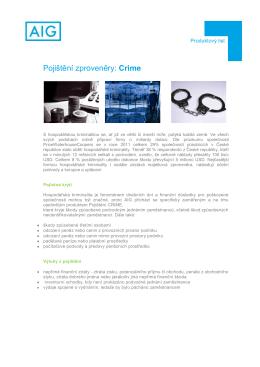 Pojištění zproveněry: Crime