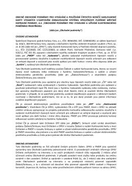 Obecné obchodní podmínky karlovarské karty platné od 1.1.2016