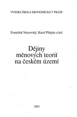 Dějiny měnových teorií na českém území