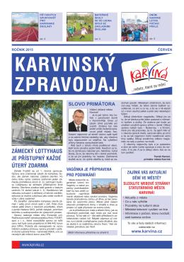 Karvinský zpravodaj 6/2015