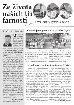 Farní zpravodaj na Září 2015