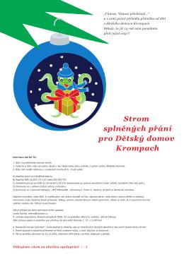 Vánoční přání Dětského domova Krompach 2015