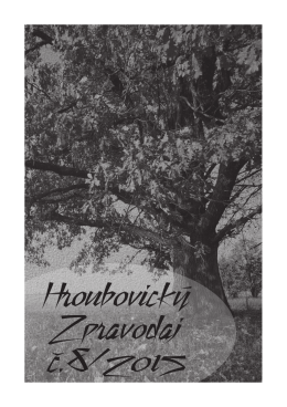 Hroubovický zpravodaj 2015/08