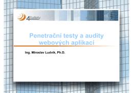 Penetrační testy a audity webových aplikací
