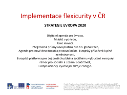 AMSP ČR Prezentace Implementace flexicurity v ČR