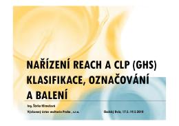 Nařízení REACH a CLP - Výzkumný ústav maltovin Praha, sro