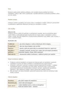 Vize Poslání (mise) Cíle služby Vzdělávání
