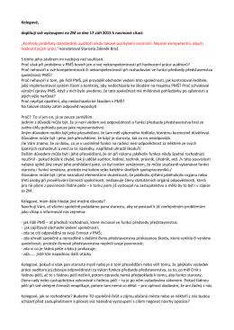 Vyjádření ke starostově výroku o auditorovi PMŠ a.s. - PRO
