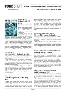 Newsletter FOND SHOP 24-2015