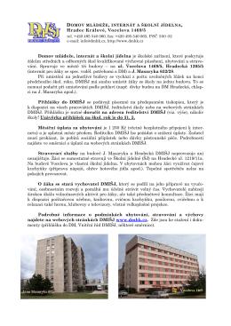 informace o ubytování.